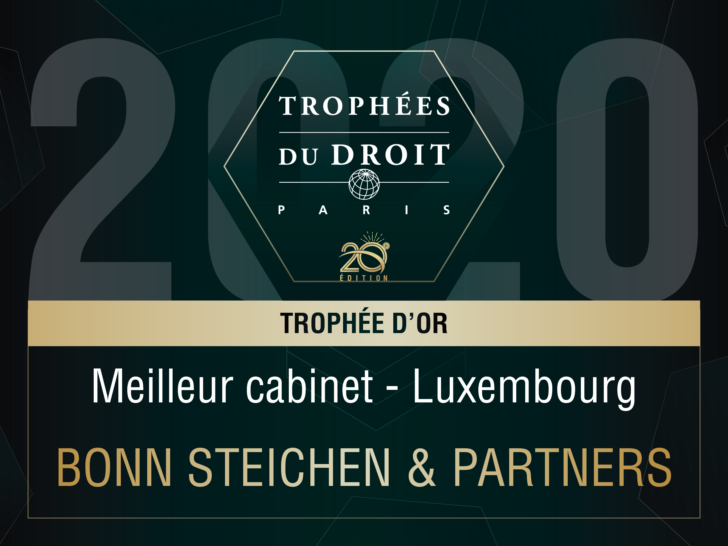 Trophée du Droit - Best Luxembourg Law Firm